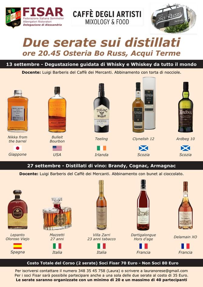 Degustazione di Whisky, Degustazione Brandy ad Acqui Terme